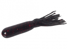 120-001, Salty Super Tube 3.75, Black Red Flake