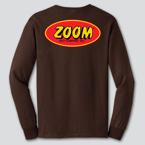 Brown Long Sleeve Shirt - Zoom Bait 00b27fa85df