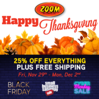 2019 Thanksgiving Sale Event ~ 25% OFF + FREE SHIPPING!